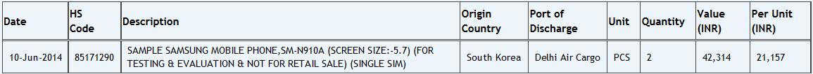 Samsung SM-N910A