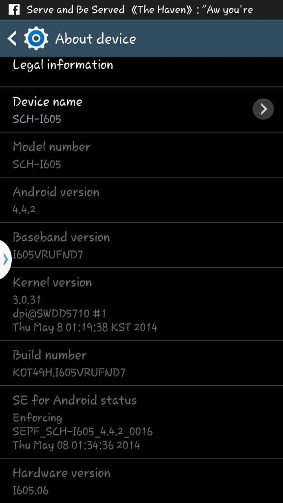 Samsung Galaxy Note 2 KitKat Update