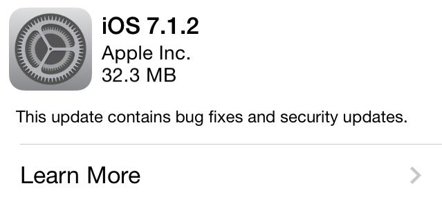 iOS 7.1.2 OTA Update