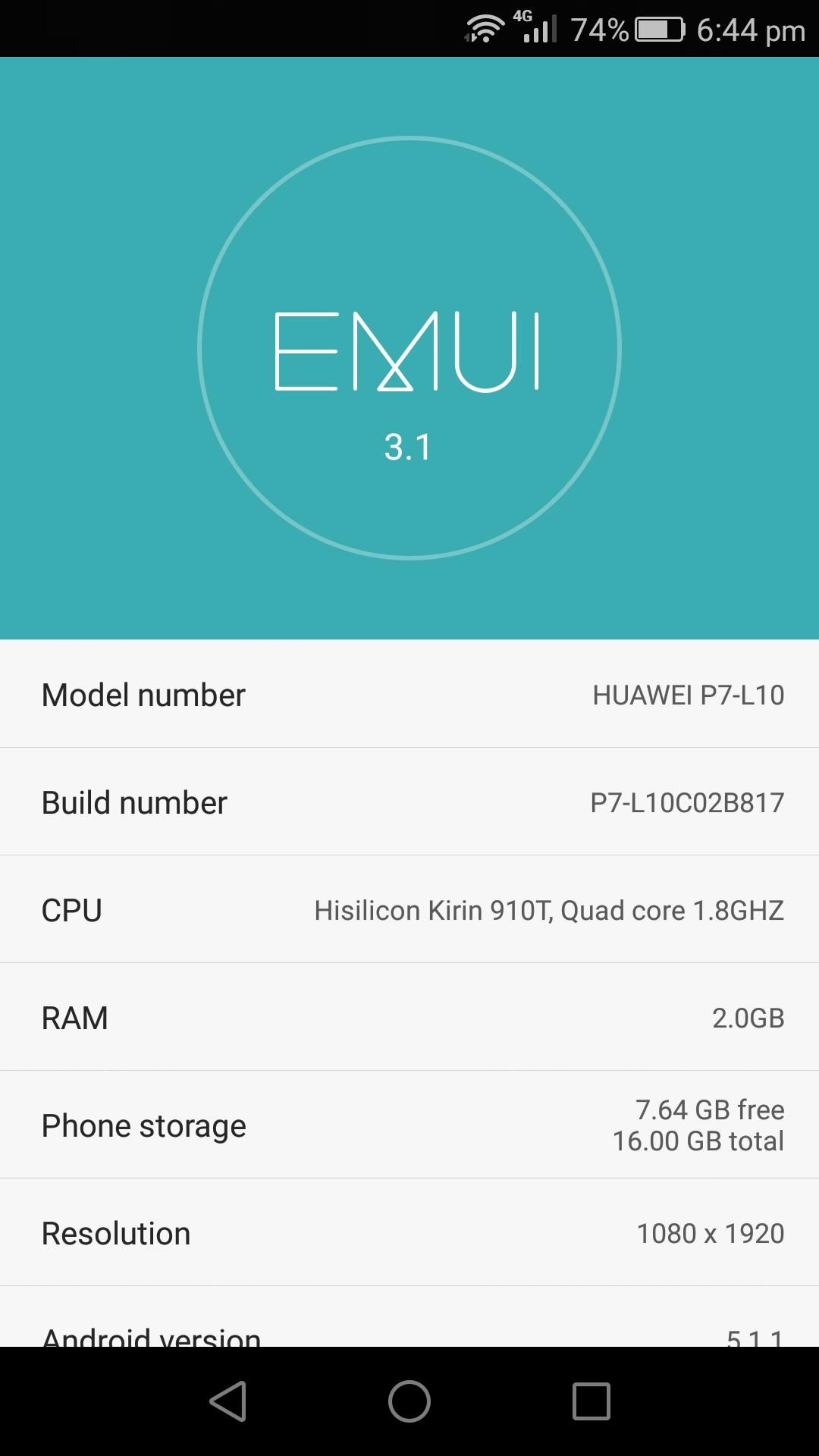 Huawei Ascend P7 B817
