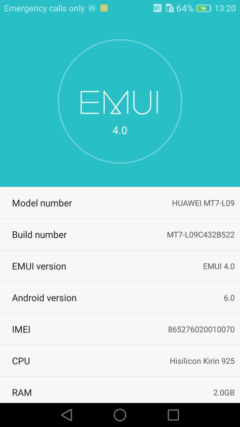 Huawei Mate 7 B522