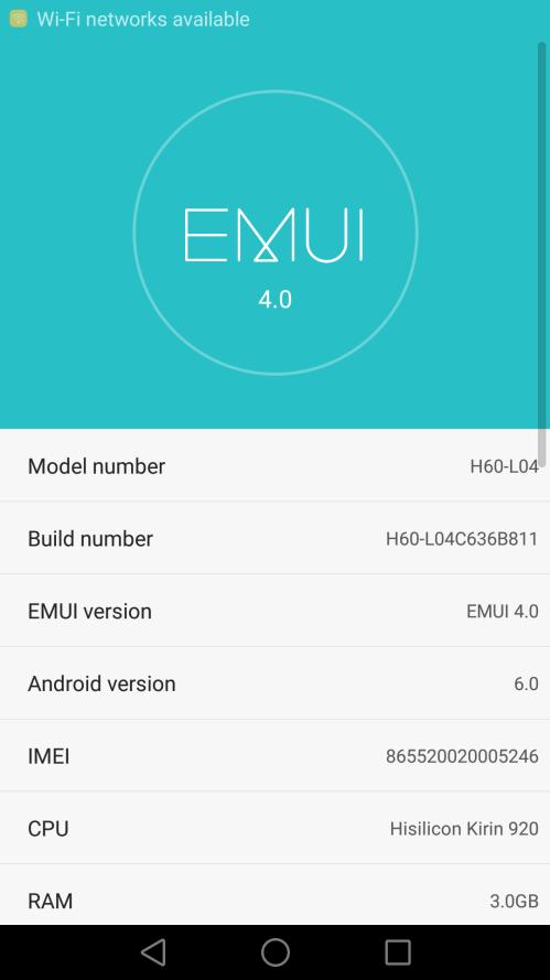 Huawei Honor 6 B811 Marshmallow