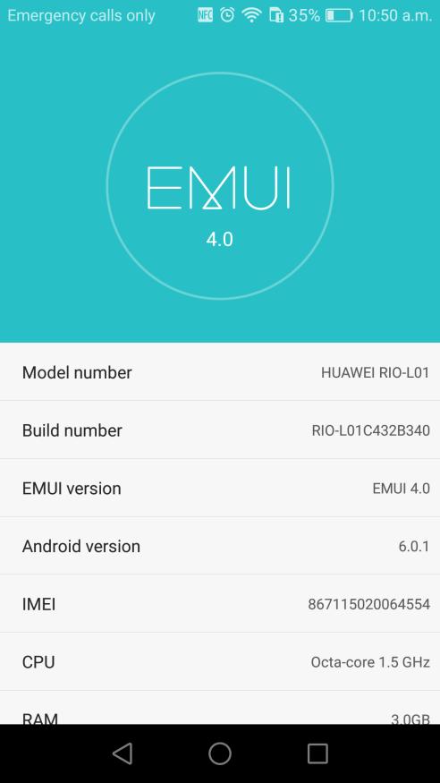 Huawei G8 B340 Marshmallow