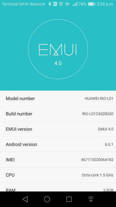 Huawei G8 B330 Marshmallow