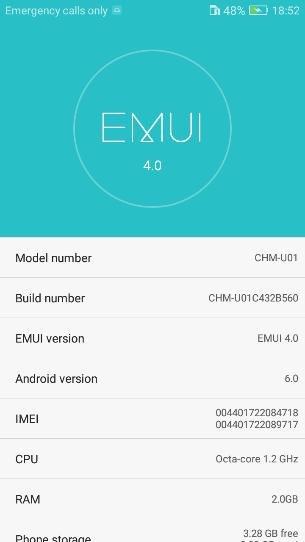 Huawei Honor 4C B560 Marshmallow