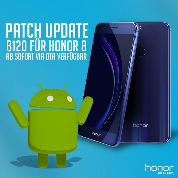 Huawei Honor 8 B120 Update