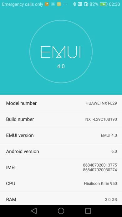 Huawei Mate 8 B190