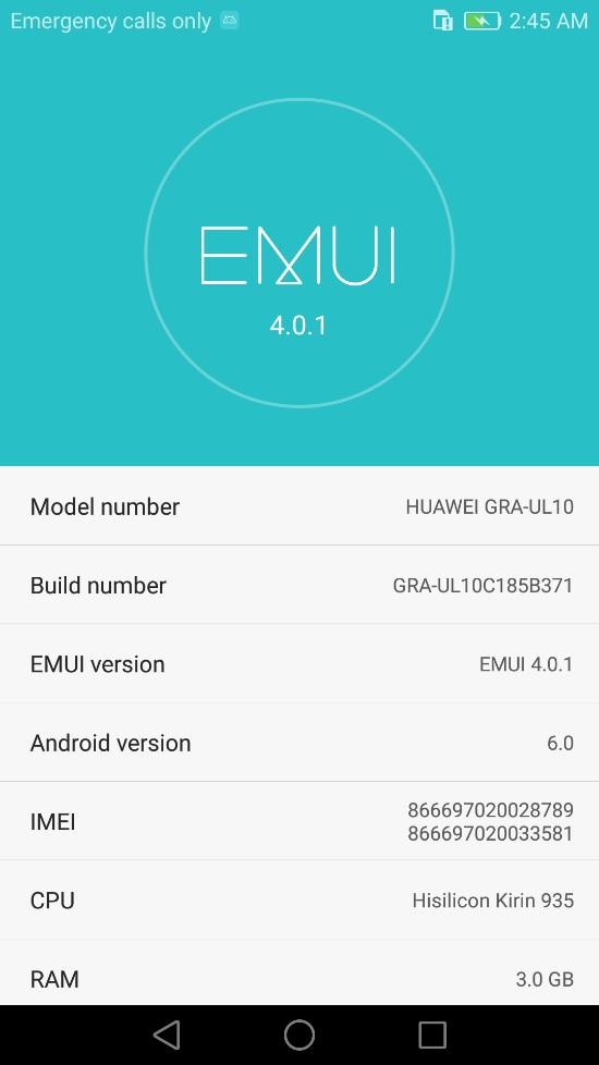 Huawei P8 B371 Update