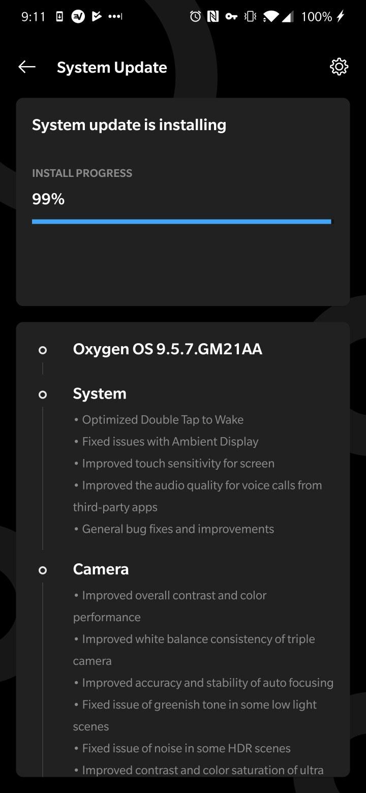 OxygenOS 9.5.7