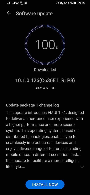 Huawei P30 Pro EMUI 10.1 Update Asia