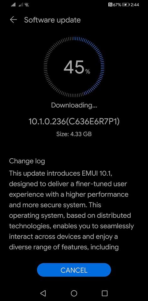 Huawei Mate 30 Pro EMUI 10.1 Update