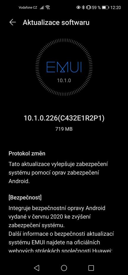 Huawei P40 Lite 10.1.0.226 Update