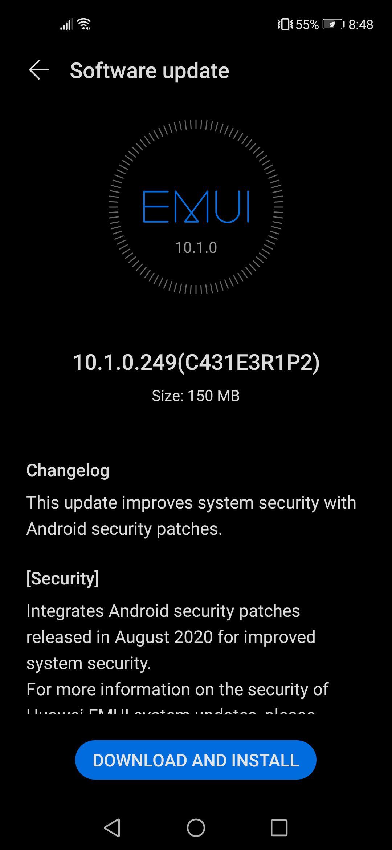 Huawei Nova 5T August Patch